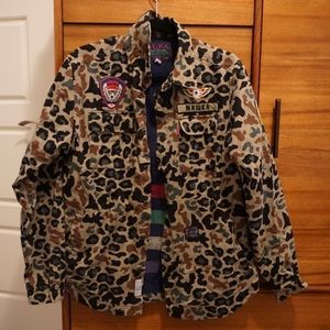 MNAKA camo jacket with patch detailing
